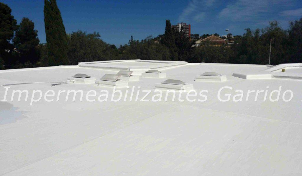 Cubiertas y terrazas con poliuretano liquido Impermeabilizantes Garrido