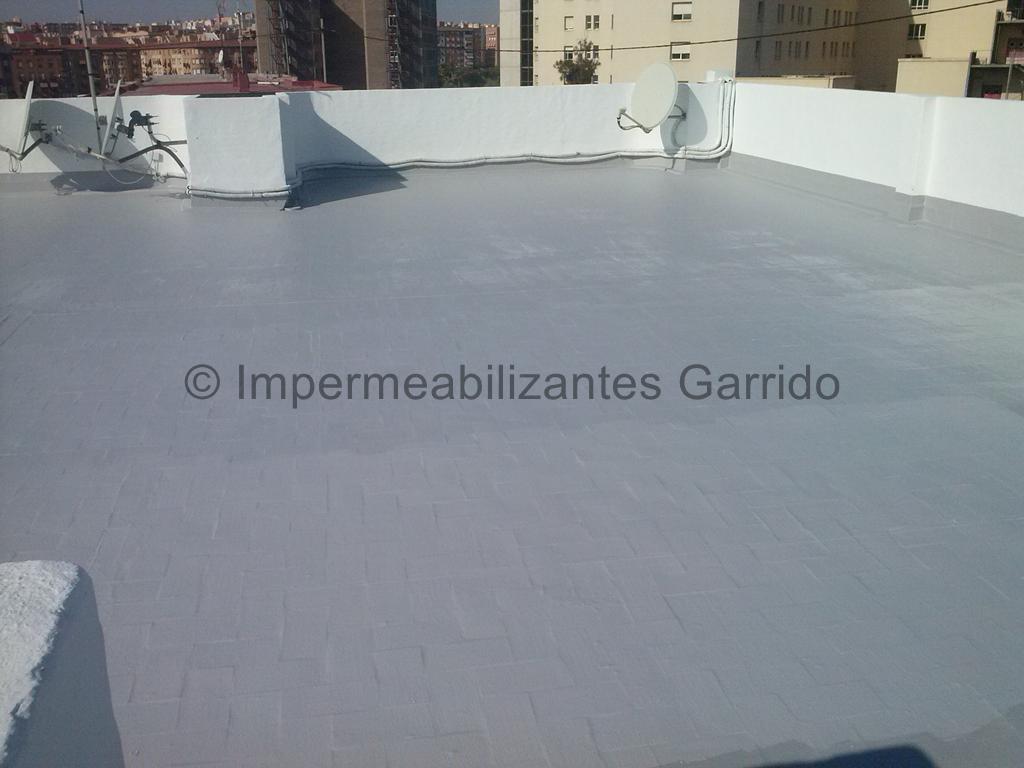 Impermeabilización de terrazas con pintura de caucho elastico