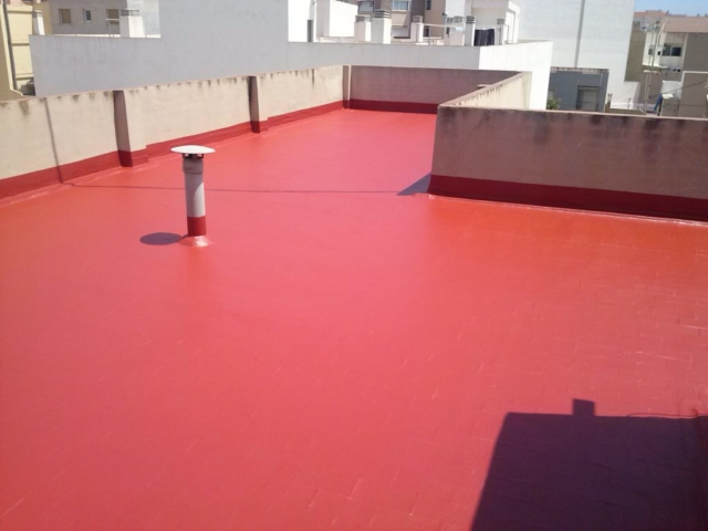 Impermeabilización de terrazas con pintura de caucho elastica